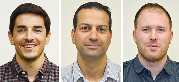 Headshot photos of three scientists who worked on this research – Dr. Chris Garnham, Dr. Mark Sumarah, Dr. Justin Renaud